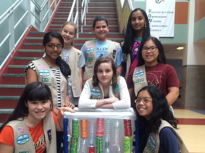 by: SUBMITTED PHOTO: ROBIN MCINTYRE - A group of Girl Scouts from Troop 40643 are hosting a Recycling and Sustainability Fair at the Cedar Mill Farmers' Market on Saturday from 8 a.m. to 1 p.m. across from Sunset High School on Northwest Cornell Road.