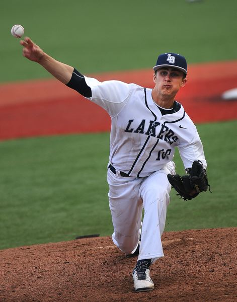 by: VERN UYETAKE - Lake Oswego's Harrison Reece threw a complete game and picked up the victory for the Lakers in the second-round of the playoffs against McNary.