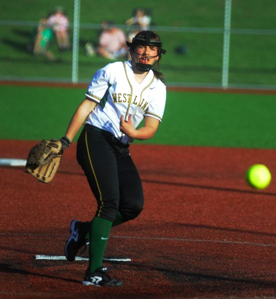 by: MATTHEW SHERMAN - West Linn's Sarah Von Ahn, recently named the Three Rivers League pitcher of the year, held Westview's potent line-up to three runs last week but the Wildcats came away with a 3-0 win, ending a terrific season for the Lions.