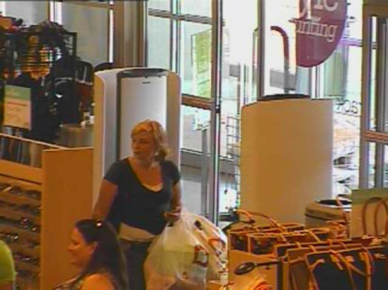 by: WILSONVILLE POLICE DEPARTMENT - Wilsonville Police suspect this is one of two people who broke into a car at Town Center Park and used the victim's credit cards fraudulently at businesses in Tualatin and Tigard.