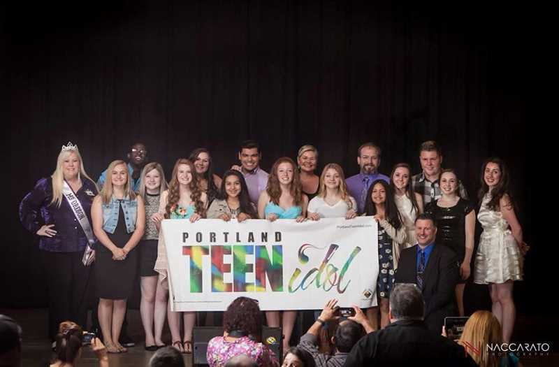 by: SUBMITTED PHOTO - The winner of the Portland Teen Idol competition will be selected from the finalists, pictured above, on June 14 at Lake Oswego High School.