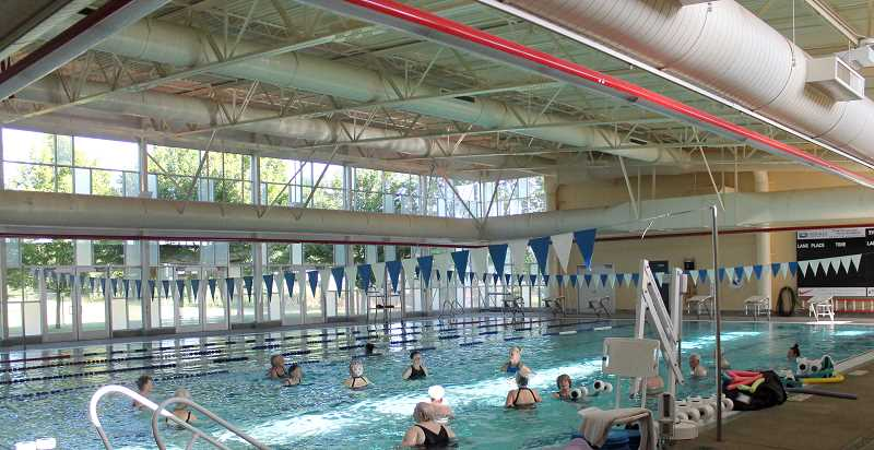 by: JIM BESEDA - An evening aquatic fitness class draws a good number of participants every week at the Molalla Aquatic Center. The city has drastically reduced hours of operation for the pool and eliminated staff positions. But City Manager Dan Huff said it will reinstate some of the reduced hours for the summer.