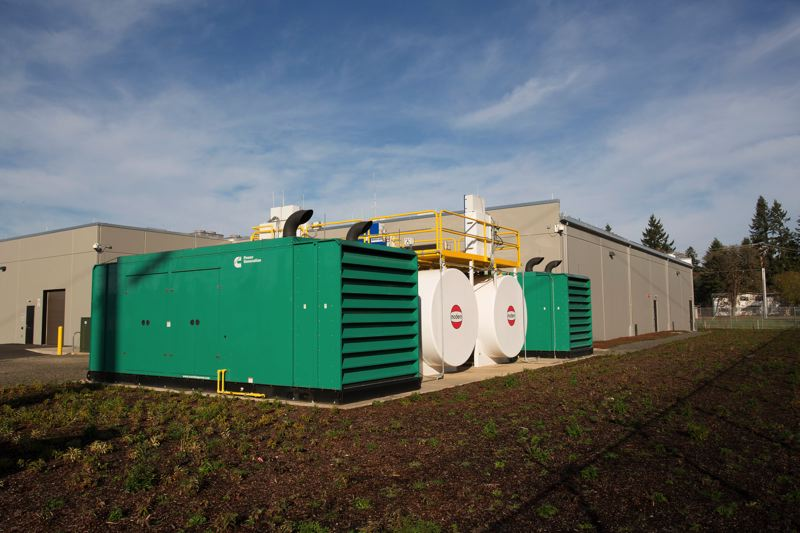 by: PHOTO COURTESY PGE/MICHAEL DURHAM - One megawatt emergency generators for backup power at the PGE readiness center. The center is designed to handle vital processes for the utility in the wake of a major disaster.