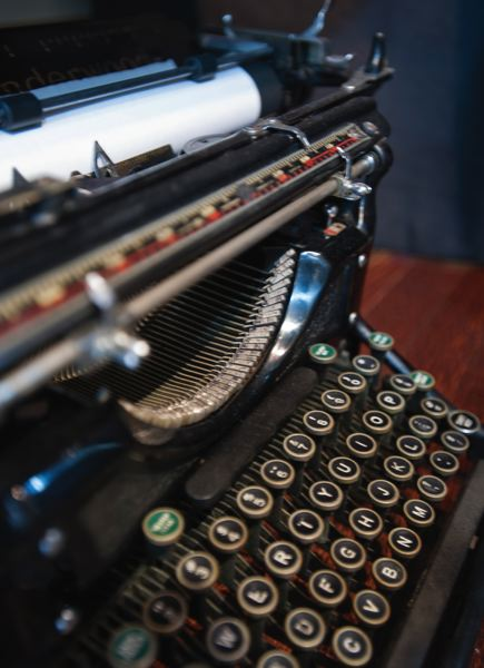 by: TRIBUNE PHOTO: JOHN M. VINCENT - Each of the typewriters that Blue Moon sells is fully restored, has a new ribbon and a warranty.