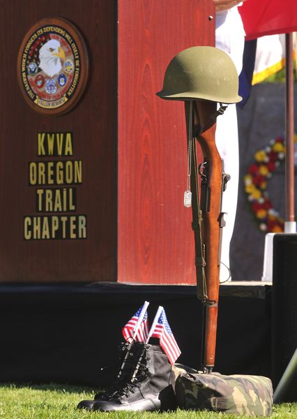 by: SPOKESMAN FILE PHOTO: JOSH KULLA - Wilsonville's Korean War Memorial will be the site Saturday of the commemoration of the 64th anniversary of the start of the war in 1950.