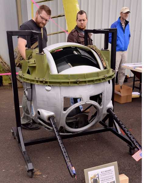 The B-17 Alliance Group, of Milwaukie, is restoring this bomber ball turret as a traveling educational exhibit.