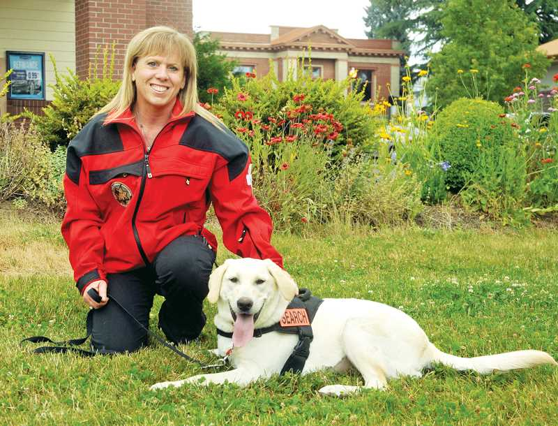 by: SETH GORDON - Service duo - Volunteering with Search and Rescue wasn't something Barb Turley-Linder thought she would end up doing, but with Opal at her side, she is now certified and plans to start working this summer.