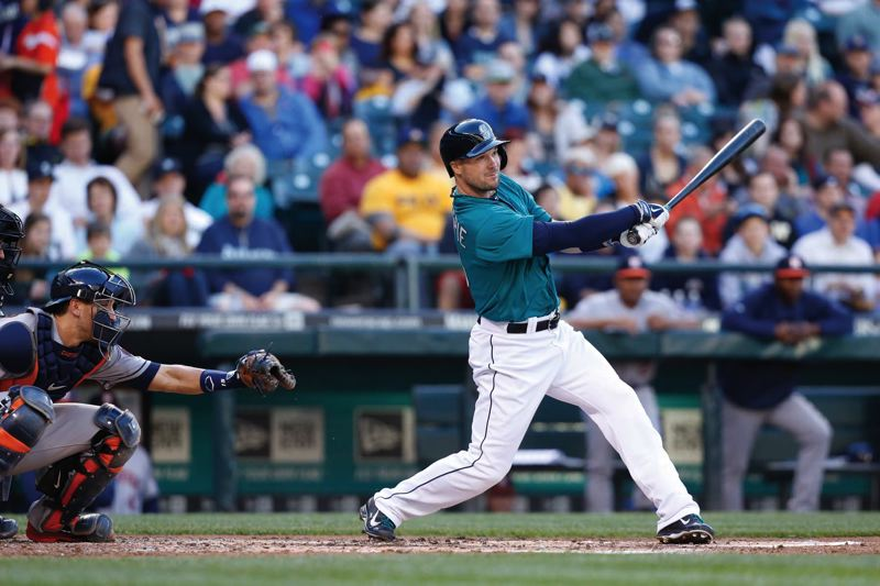 by: COURTESY OF SEATTLE MARINERS - Cole Gillespie, former Oregon State baseball player from West Linn High, has emerged as a regular corner outfielder for the Seattle Mariners after various stints in the minor leagues.
