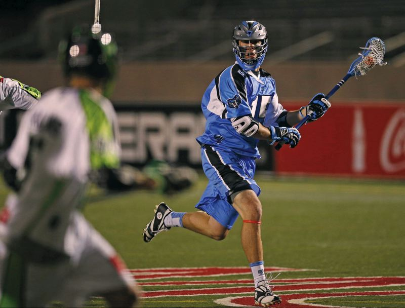 by: COURTESY OF SAM GREENE/COLUMBUS DISPATCH - Peter Baum, a rookie from Lincoln High and Colgate, is leading the Ohio Machine of Major League Lacrosse and has been voted to the all-star team for his 2014 exploits.