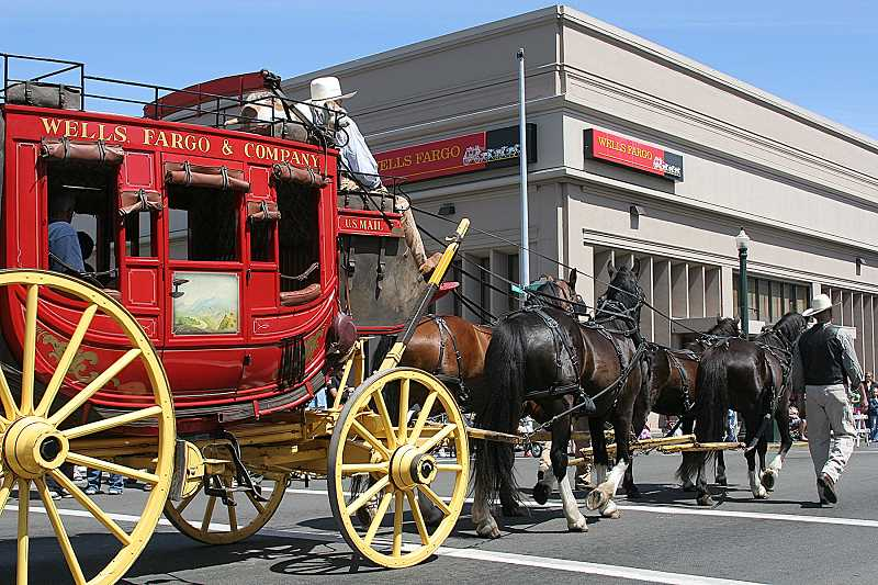 by: SUBMITTED PHOTO - The Wells Fargo stagecoach will participate in the Madras July 4 parade, which will celebrate the centennial for Jefferson County.
