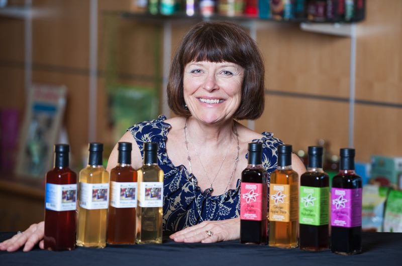 by: COURTESY OF STEPHEN WARD - Oregon State Universitys Food Innovation Center helped Connie Rawlings-Dritsas develop formulas for her line of flavored vinegars.
