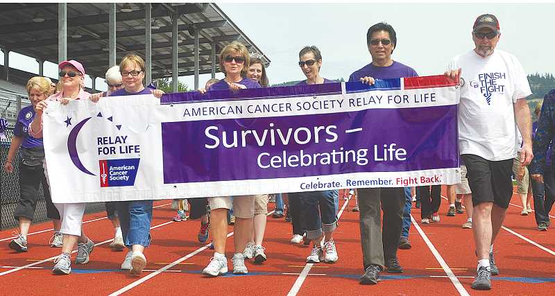 by: GARY ALLEN - Triumph - While Relay for Life is designed to raise money for current cancer patients and research, it also celebrates those who have beat the odds. Each event starts with a walk celebrating those people.