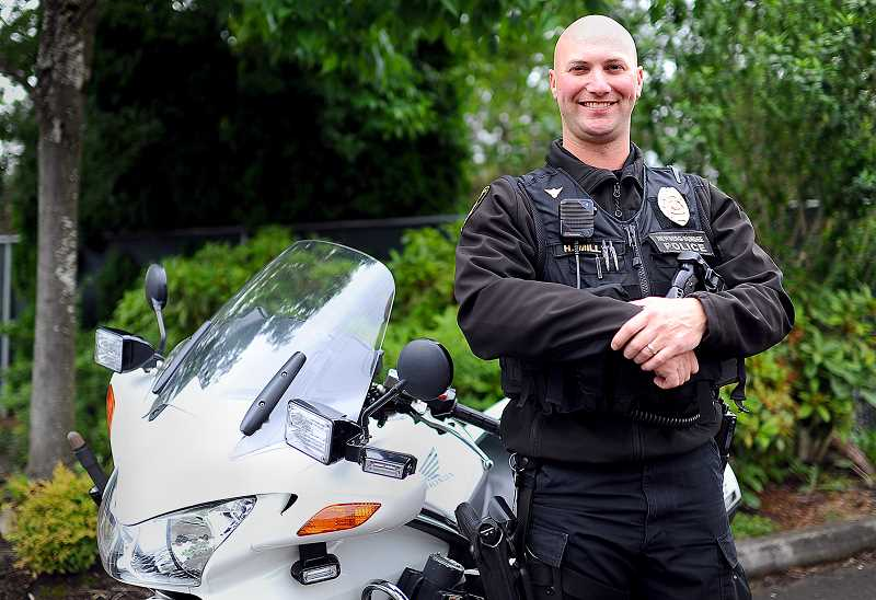 by: SUBMITTED - Top dog - Officer Huntley Miller won three awards for his motor skills at the recent North American Motor Officers Association conference, including Honda Top Rider.