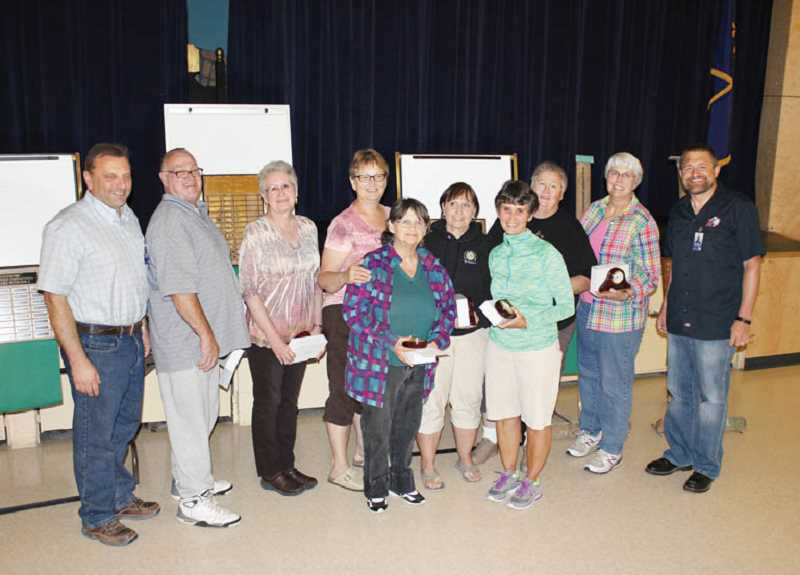 by: SUSAN MATHENY/MADRAS PIONEER - Honored at retirement breakfast.
