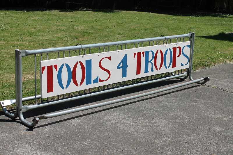 by: TIDINGS PHOTO: PATRICK MALEE - Eventually, Wall hopes Tools for Troops will hold giveaways once a month.