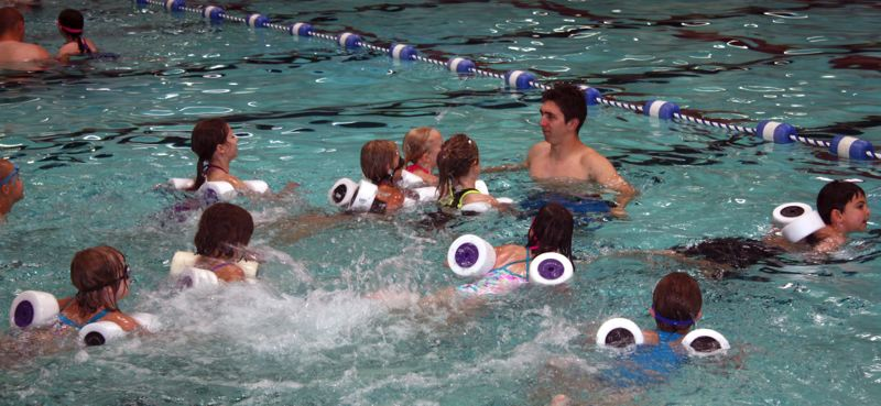 by: POST PHOTO: KYLIE WRAY - Maverick Aquatics conduct childrens swimming lessons at the Sandy Pool.