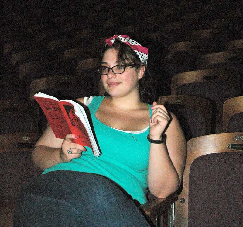 by: ESTACADA NEWS PHOTO: ISABEL GAUTSCHI - Lesel Ayers, a 2006 graduate of Estacada High School, is directing PAGE's production of The Ax of Murder.