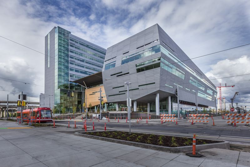 by: PHOTO COURTESY ALENE DAVIS PHOTOGRAPHY - Work has been completed on the Collaborative Life Sciences Building in South Waterfront that will be used the Oregon Health & sciences University, Oregon State Univeristy, and Portland State University.