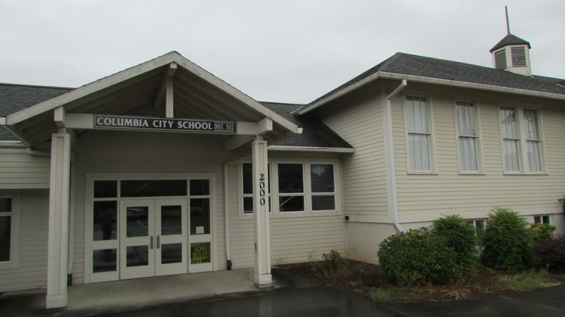 by: SPOTLIGHT FILE PHOTO - The Columbia City School, which was closed at the end of the 2011-12 school year due to budget constraints. St. Helens School District Superintendent Mark Davalos presented his latest plan to look into reopening the school at a meeting Wednesday, June 25.