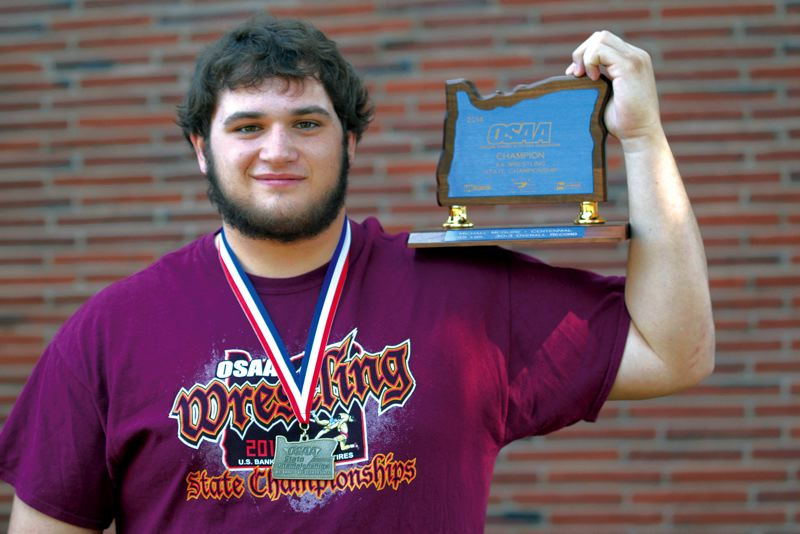 by: THE OUTLOOK: DAVID BALL - Centennial High graduate Michael McGuire was an all-star lineman in football, won a state title in wrestling and was the teams designated hitter in baseball.