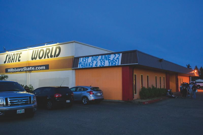 by: HILLSBORO TRIBUNE PHOTO: CHASE ALLGOOD - Hillsboro Skate World, the Air Raid Roller Girls' home rink, prepares to close after 33 years of business.