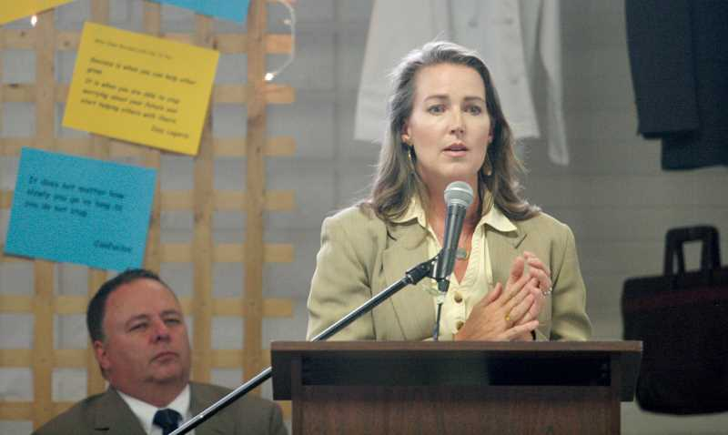 by: PHIL HAWKINS - Oregon First Lady Cylvia Hayes emphasized the opportunities that are created from a high school diploma.