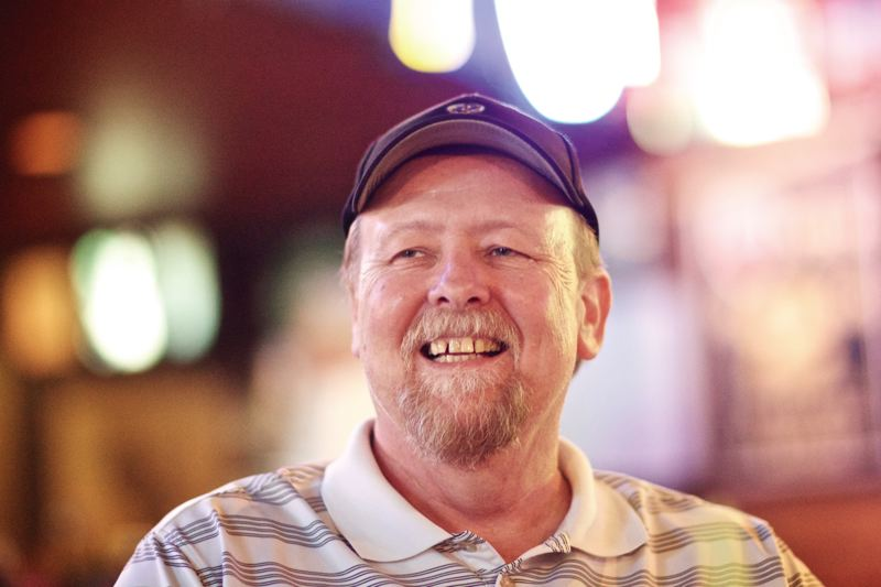 by: TIMES PHOTO: JAIME VALDEZ - Steve Michaud, owner of Scottys sports bar in Tigard, has been cancer free for more than four years after undergoing surgery to remove a brain tumor.