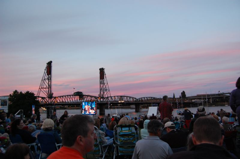 by: TRIBUNE PHOTO: KEVIN ANSPACH - Hundreds of people enjoyed Thursday's cool evening to hear music during the Safeway Waterfront Blues Festival at Tom McCall Waterfront Park. It's the largest blues festival west of the Mississippi River.
