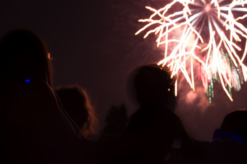The fireworks show was started by Joe and John Chamberlain as a backyard celebration  in the 1970s, but moved to Tigard High after large crowds began to gather along Walnut Street each summer, blocking traffic