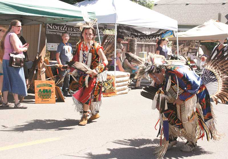 by: INDEPENDENT FILE PHOTO - The second annual Donald Hazelnut Festival - celebrating rural life, agriculture and local businesses - will be held this Saturday along downtown Main Street. The festivities kick off the parade at 11 a.m., which will feature entrants like Marcus and Osprey Gibbons, of the Confederated Tribes of Grand Ronde.
