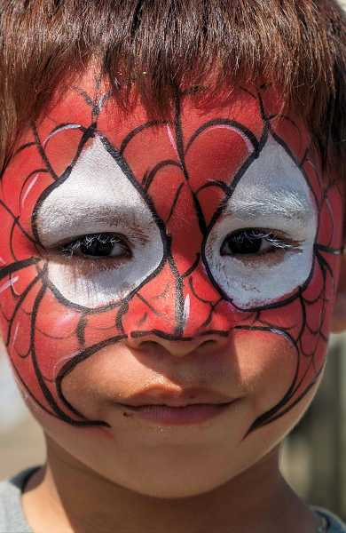 Miguel Zamora, 4, wore a Spiderman look for General Canby Day.