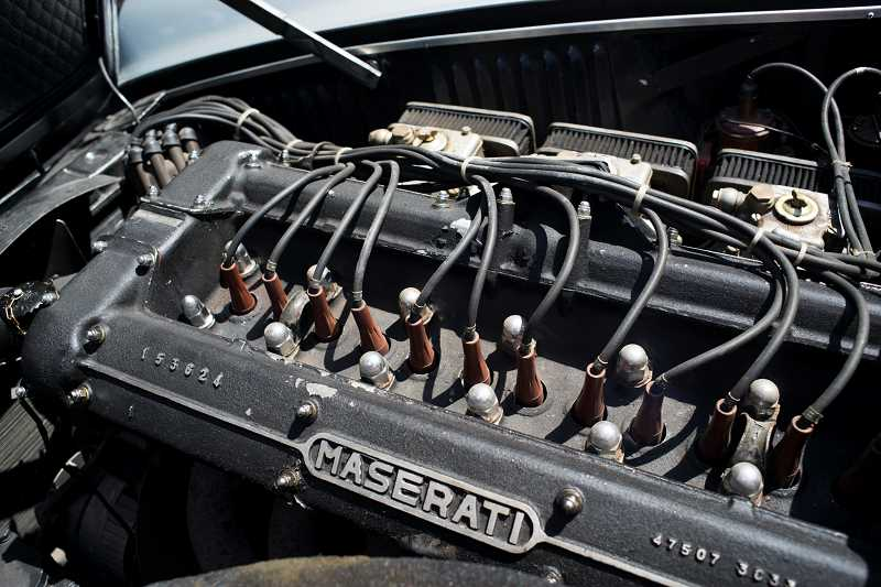 by: TRIBUNE PHOTO CHASE ALLGOOD - The 1967 Mistral was the last Maserati to come with companys famous straight six-cylinder, twin-spark, double overhead cam engine.