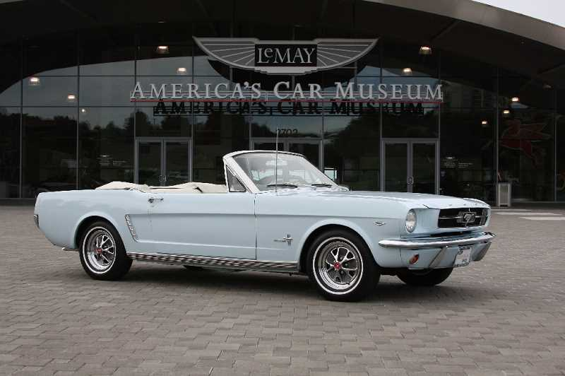 by: COURTESY PHOTO: LEMAY AMERICAS CAR MUSEUM - This fully restored 1965 Ford Mustang convertible will be on display in Forest Grove, courtesy of the LeMay Americas Car Museum in Tacoma.