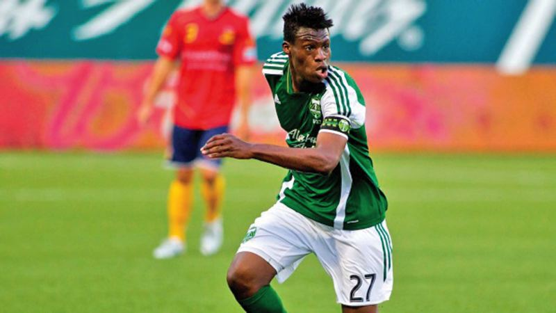 by: COURTESY OF PORTLAND TIMBERS - Fatai Alashe, a midfielder from Michigan State, has been one of the players for a .500 Portland Timbers U-23s team that is on the outside looking in at the Premier Development League playoffs with two regular-season games remaining.