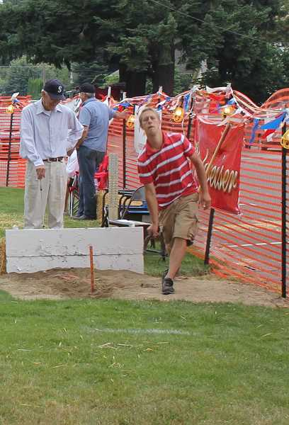 by: INDEPENDENT FILE PHOTO - The horseshoe tournament is a competitive draw to the annual Hubbard Hop Festival. This year's tournament will be noon to 3 p.m. Saturday.