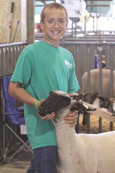 by: LINDSAY KEEFER - Taylor Faber is the only Green Grazer who showed sheep at last week's Marion County Fair.