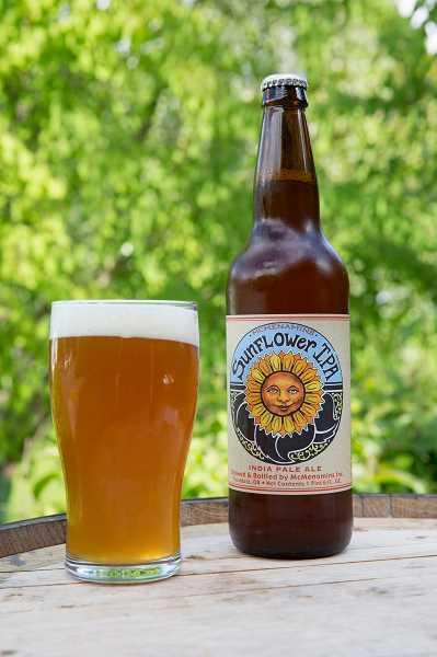 by: SUBMITTED PHOTO - The summertime favorite Sunflower IPA is available for a limited time only at McMenamins locations.