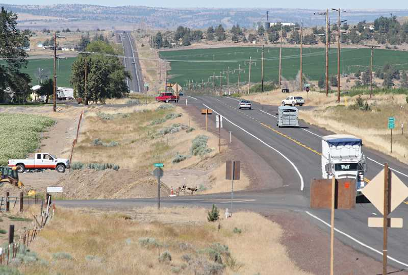 by: HOLLY M. GILL - At the intersection of U.S. Highway 97 and Cora Drive, just north of Madras, ODOT is realigning Cora Drive to make it perpendicular to the highway. The intersection with Clark Drive, to the north, will be closed, and turned into a cul-de-sac for residents of that stretch of road.