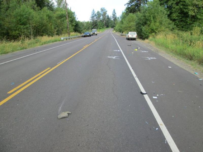 by: COURTESY PHOTO - A woman died this morning near Molalla after being struck by a car.