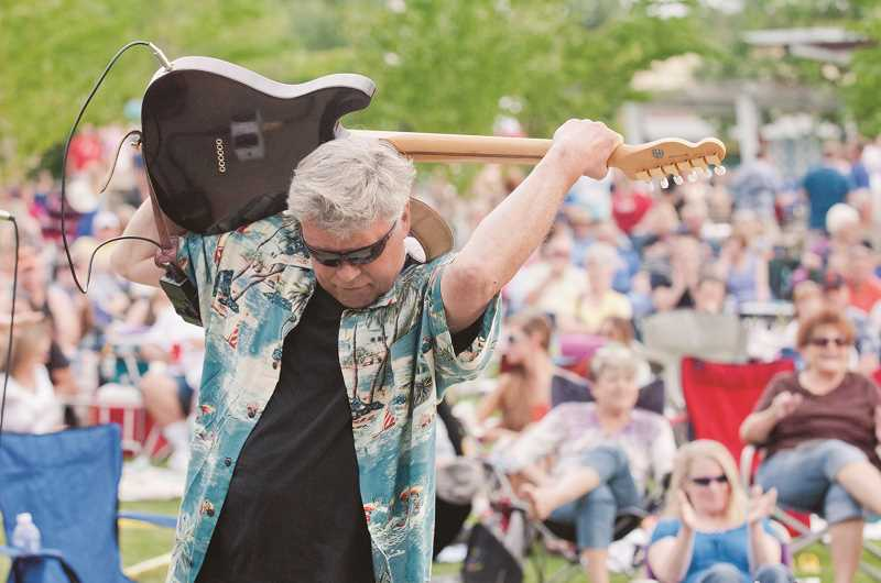 by: SPOKESMAN FILE PHOTO: JOSH KULLA - Johnny Limbo and the Lugnuts, shown here at a past Rotary show at Town Center Park, will open Rotarys Summer Concert Series Thursday at 6:30 p.m. with a set of their oldie favorites.