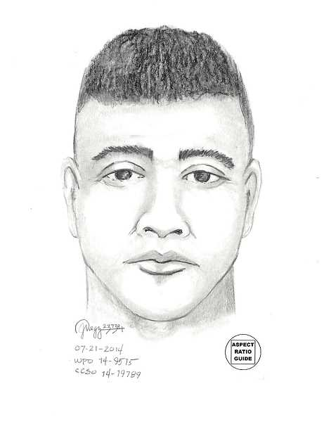 by: SUBMITTED - This sketch represents the suspect who robbed Sherwin-Williams July 6. Anyone with information should call 503-980-2460.