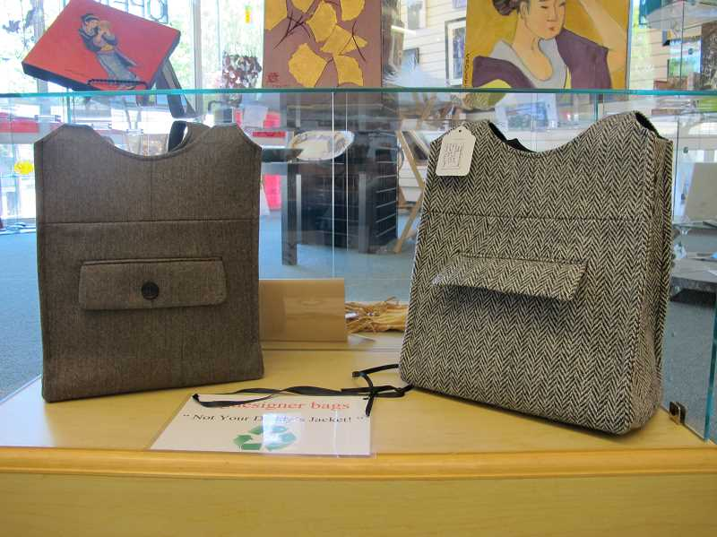 by: SUBMITTED PHOTO - Designer handbags are part of the exhibit at  Three Rivers Artists Guild this month.