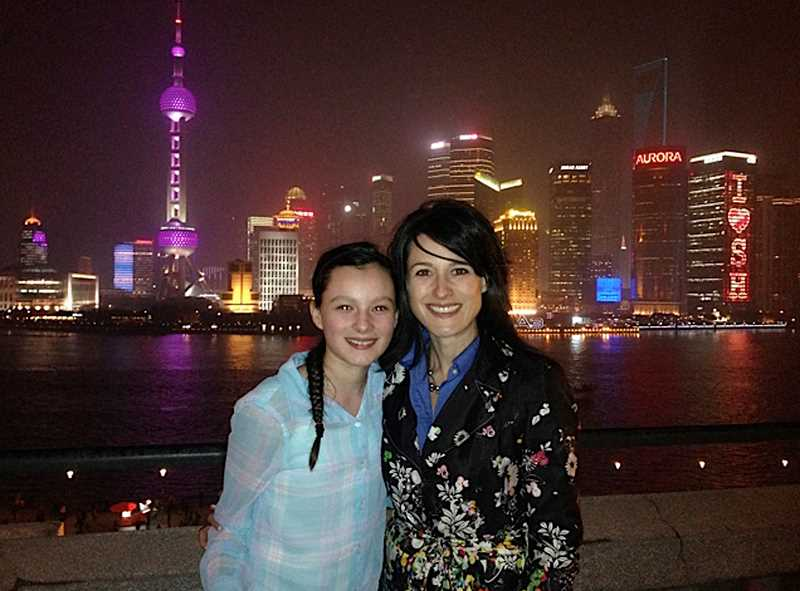Fryes oldest daughter Nikaya got to accompany Frye on a business trip to China.