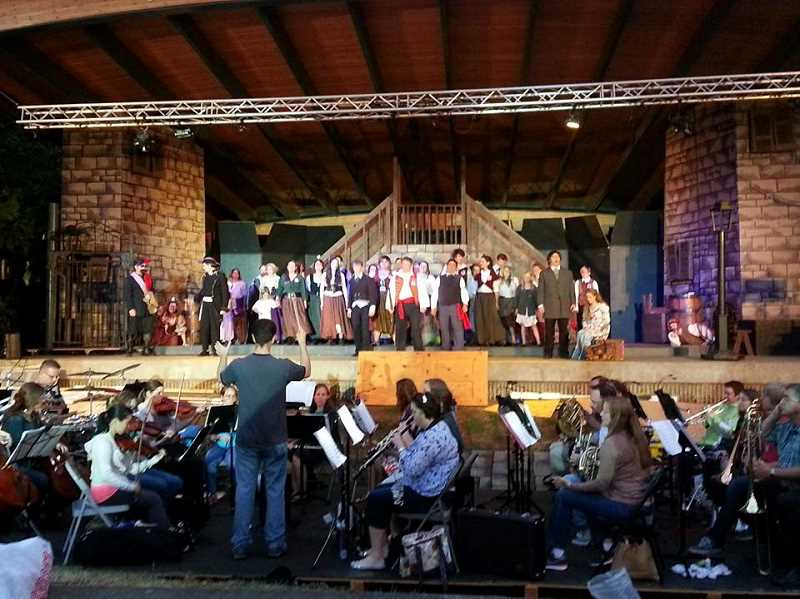 by: SFAS' FACEBOOK PAGE - Here's what the cast (and live orchestra) look like during a dress rehearsal for 'Les Miserables' set for Friday, Saturday and Sunday night at Stella Olsen Park. All three nights are officially sold out.
