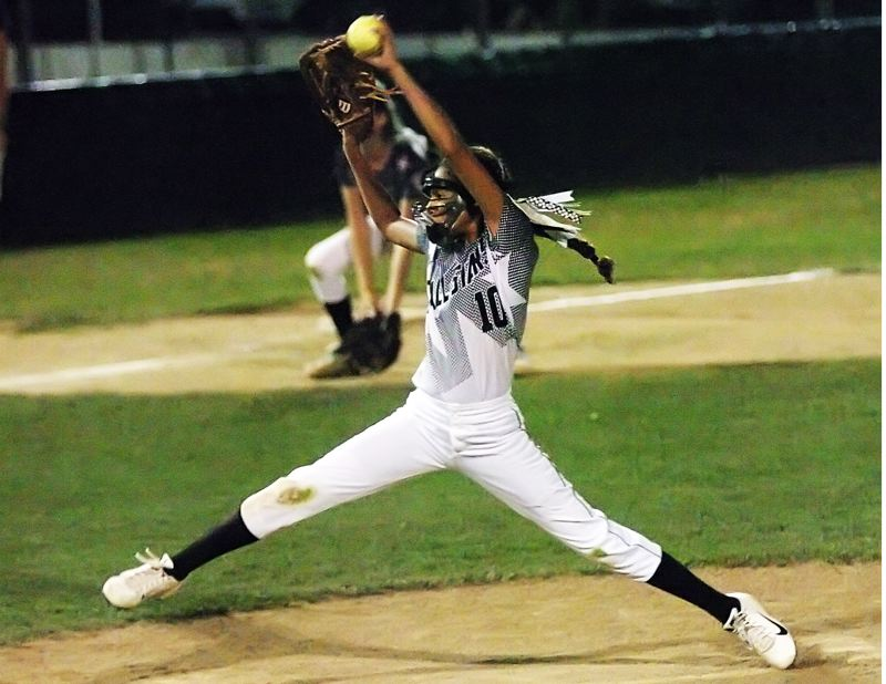 by: DAN BROOD - Tia Cordts struck out all three Willow Creek batters she faced while pitching in relief in the District 4 title contest.