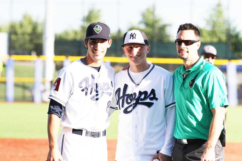 Recent Clackamas graduate Aaron Ahlstrom is the 3,000th recipient of a wish through the Make-A-Wish Oregon chapter. He started his wish experience last Thursday at Ron Tonkin Field, where he toured the Hillsboro Hops facility and threw out the first pitch before a game against the Tri-City Dust Devils.