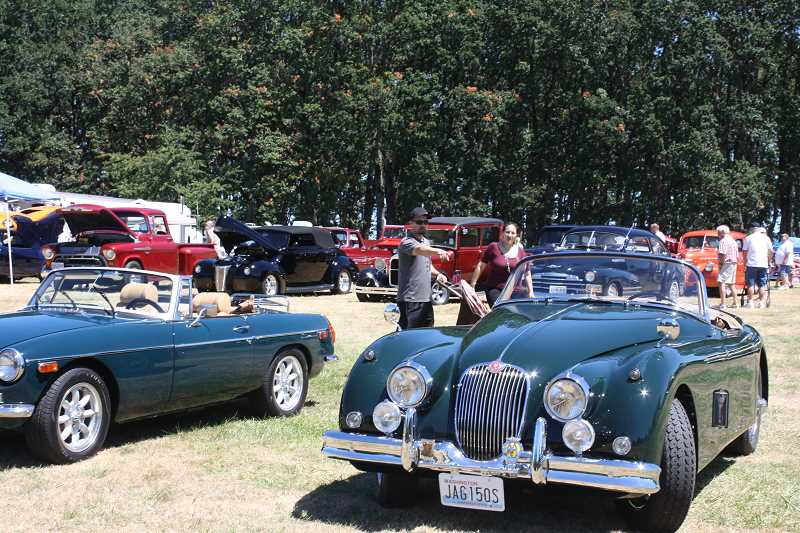 by: PEGGY SAVAGE - The Molalla Cruise In was a huge draw, with about 75 classic vehicles on display in its first year