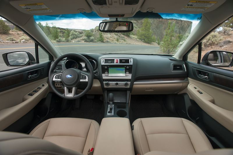 by: TRIBUNE PHOTO BY JOHN M. VINCENT - A 6.2-inch touchscreen is standard in all Outbacks, with a 7-inch included on upper trim level models. The center console features a dedicated cell phone pocket.