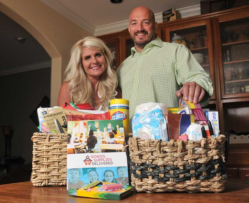 by: PAMPLIN MEDIA GROUP: VERN UYETAKE - Paige and David Bell's company, School Supplies Delivered, offers parents the chance to take the hassle out of searching for back-to-school supplies.