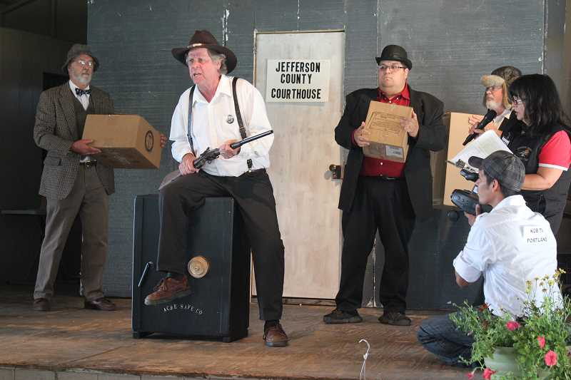 by: HOLLY GILL/MADRAS PIONEER - Historical skits celebrating Jefferson County's 100th anniversary were a hit at the fair.